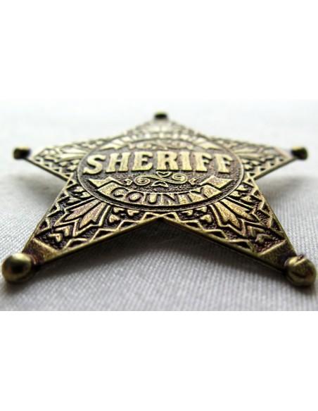 ETOILE DE SHERIF 5 BRANCHES BRONZE