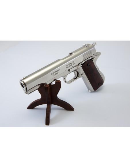 PISTOLET 45 USA 1911 CHROME (IDEM P1227NQ) NON DEMONTABLE