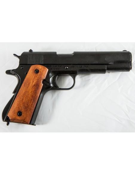PISTOLET 45 1911 USA NOIR PLAQUETTE LISSE (P1227N) DEMONTABLE